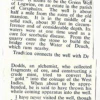Newspaper clipping – Green Well of Scotland<br /><br />