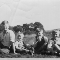 Martin Boys, The Crofts, Bob, Michael, Tony and Doug circa 1949.