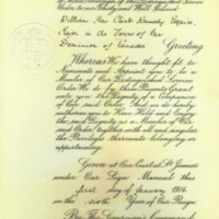 Award of distinguished Service Order presented to William Hew Clark Kennedy 1 January 1916