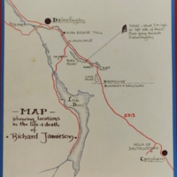 Map showing locations of life and death of Richard Jamieson