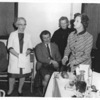 Burns Supper 1973,  Addressing the Haggis