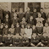 Carsphairn School Group Photo 1927 older children with 2 teachers