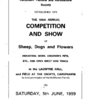Carsphairn Show Day Programme Sat 5 June 1999<br /><br />