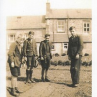 Carsphairn School boys in Garden of School House 1930's
