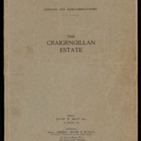 Catalogue of auction of part of Craigengillan Estate 1919<br /><br />
