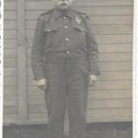 Gibson Stewart in uniform at Preaching Knowe