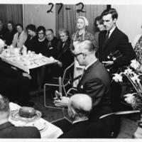 Burns Supper 1969, Addressing the Haggis