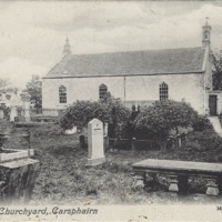 View of church/churchyard Carsphairn