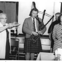 Burns Supper 1973, Piping in the Haggis