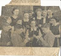 Newspaper clipping – music practice