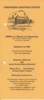 Leaflet for 2002 exhibition