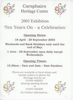 2003 – 10 Years On – a celebration poster