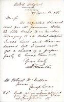 Letter to Robert McMillan re title deeds of Robert Dalgleish