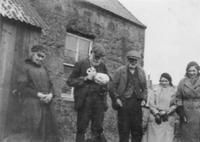 Jessie, Sam and Rob Wilson, Margaret Thom, unknown, at Sheil