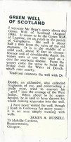 Newspaper clipping – Green Well of Scotland