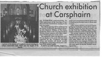 Newspaper clipping – Church exhibition at Carsphairn