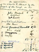Record of collection made for Charles E Stewart (Postman)