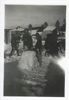 Carsphairn School Children playing in the snow 1930's