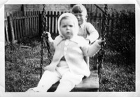Tony Martin on swing, brother Bob pushing, ca 1941-4