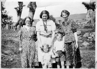 Unknown, Hilda Martin, Bob Martin, possibly James Martin and his mother circa 1937.
