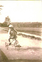 A young tricyclist