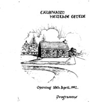 Opening of Carsphairn Heritage Centre Programme