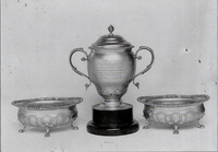 The silver cup and two bowls presented to William Hew Clark Kennedy