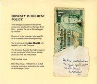 £1 honesty note