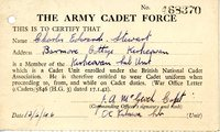 Army cadet force certificate of membership Charles E Stewart
