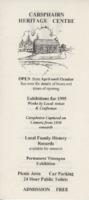 Leaflet for 1995 exhibition