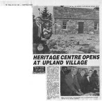 Newspaper article – Dumfries Courier, Friday April 24th, 1992. Heritage Centre Opens at Upland Village