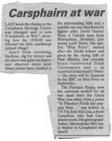 Newspaper clipping – Carsphairn at war