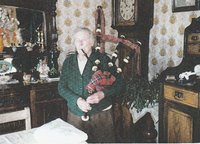 Mrs Mary Murray  - Playing the pipes on her 90th birthday