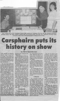 Newspaper clipping – Carsphairn puts its history on show by Chris Saunderson