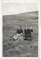 Helen and Elizabeth at foot Cairnsmuir