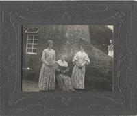 Jean Ferguson (nee McMillan)  seated, Jean (left) & Robina (Beanie) Martin (right) in The Dresses