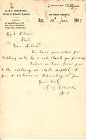 Wedding cake order from G & J Girdwood  (Bakers) to Mrs Wilson, Shiel