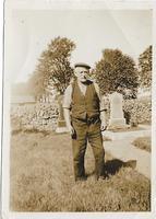 Uncle Gibson Stewart in graveyard