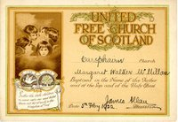 UFC Baptismal Certificate Margaret Walker McMillan