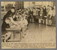 Newspaper clipping -  1964 - Savings Day at Kells School - pupil-operated scheme