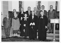 """Visit of Moderator of General Assembly, 1990, on the occasion of the 350"""" anniversary of the Parish of Carsphairn"""