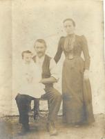 Gibson Stewart, wife and daughter