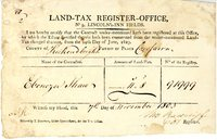 Land Tax Receipt 1803