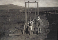 The swing at Clatteringshaws School circa 1940