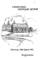 Opening of Carsphairn Heritage Centre Programme<br /><br />