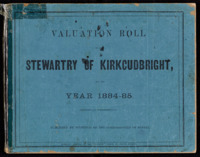 Valuation Rolls for the Stewartry 1884-85