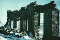 Ruins of the School at Woodhead Leadmines - taken in mid 1990's (in the snow)
