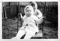 Tony Martin on swing, brother Bob pushing, ca 1941-4