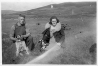 Hugh and Hilda Martin in the fields