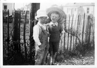 Bobbie and Comrade Jim Pim-Richardson, Jim on left ca 1942.